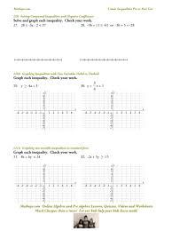 linear inequalities test mathops