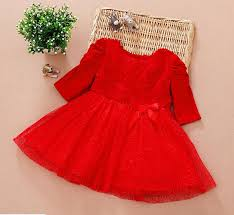 2018 Baby Girls Christmas New Arrival Girl Dresses Red Rose Bows