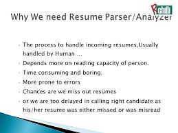 parse resume exle resume parsing cover letter