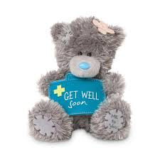 get well soon teddy get well soon tatty teddy