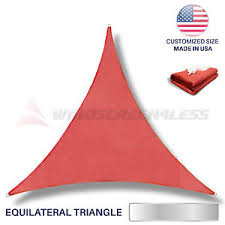 Sail Canopy Awning Custom Equilateral Triangle Red Sun Shade Sail Canopy Awning Patio