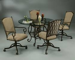Kitchen Table With Caster Chairs Kitchen Chairs With Rollers Chair Design