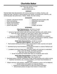 retail resume exles best rep retail sales resume exle livecareer