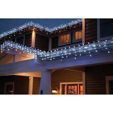 time led random twinkle icicle light set white wire cool