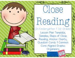 close reading in kindergarten and 1st grade by aylin claahsen tpt