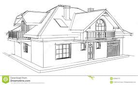 drawing home drawing home stock illustration illustration of built 52665172
