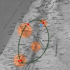 New Testament Map Galilee U2013 Because He Lives