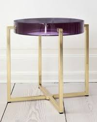 Yellow Side Table Uk By Mccollin Bryan Uk Tinted Lens Table With Acrylic Top And