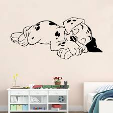 cute sleeping dog wall stickers bedroom living room decorative