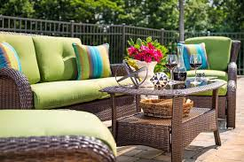 Wicker Patio Table Set Sawyer 6pc Resin Wicker Patio Furniture Conversation Set Green