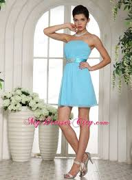 prom dress shops in kansas city baby blue ruched and belt decorate 2013 homecoming dress