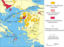 Aegean Sea Map Geology Of Turkey Maps And Diagrams