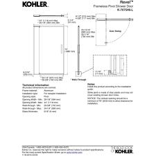 44 Shower Door by Kohler K 707546 L Bnk Revel Anodized Brushed Nickel Shower Doors