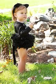 Toddler Cat Halloween Costume Couture Halloween Black Cat Tutu Piece Bodysuit