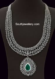 diamond long necklace images Diamond long haram necklace pinterest diamond jewel and jpg