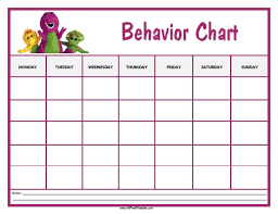 barney behavior chart free printable allfreeprintable