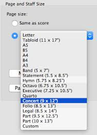 sibelius change the page size of all of your parts in one edit
