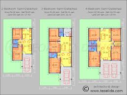 single storey semi detached house floor plan house floor plans 50 400 sqm designed by teoalida teoalida website