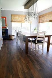 Kitchen Vinyl Flooring by Waterproof Vinyl Wood Plank Floor Centsational Bathroom