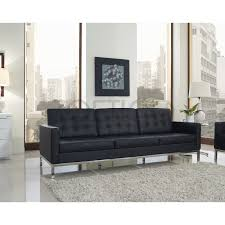 knoll sofa florence knoll style sofa in leather colors materials