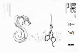 razorline ck37 new style professional hairdressing scissor with