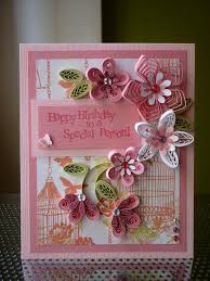 handmade quilling paper pink card happy birthday to a special