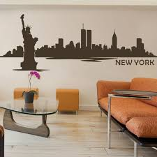 popular custom wall decal buy cheap custom wall decal lots from new york city skyline silhouette wall decal custom vinyl art stickers the big apple home