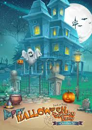 pictures of cartoon haunted houses holiday card with a mysterious halloween haunted house scary