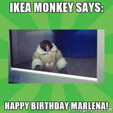 Ikea Birthday Ikea Monkey Says Happy Birthday Marlena Delboy Ikea Monkey