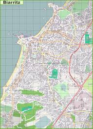 Detailed Map Of France by Large Detailed Map Of Biarritz