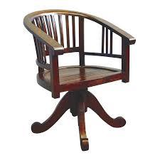 bureau teck massif fauteuil de bureau tournant en teck tendance coloniale