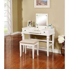 Wood Vanity Table Makeup Vanities Bedroom Furniture The Home Depot