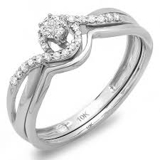 cheap wedding ring sets inexpensive infinity design wedding ring set jewelocean