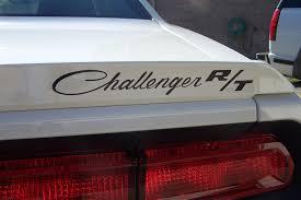 Dodge Challenger Decals - looking foa a rear spoiler challenger r t cursive decal dodge