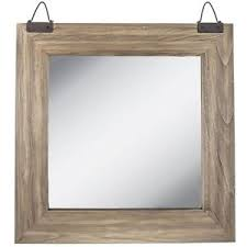 industrial square wood wall mirror new mirror wall