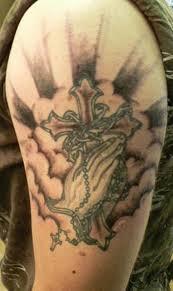 49 nice cross shoulder tattoos
