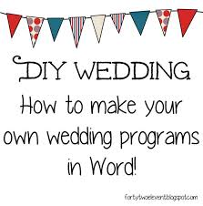 print your own wedding programs 25 best diy wedding programs ideas on wedding church