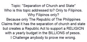 separation of church and state in the philippines universal