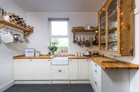 wren kitchens shaker alabaster timber this square kitchen has