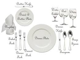 table setting western style formal breakfast table setting