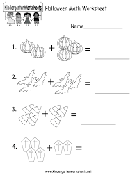 Math Worksheets Kindergarten Halloween Math Worksheet Free Kindergarten Holiday Worksheet For