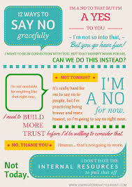 12 ways to say no gracefully without saying maybe later asking