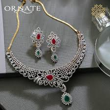 luxury necklace images Luxury diamond necklace from manubhai jewellers south india jewels jpg