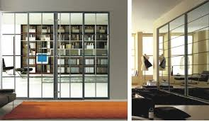 Glass Room Divider Doors Luxury Living Room Divider With Glass Modern Aluminum Profile For