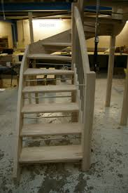 ash open riser staircase feature stairs in ash hardwood