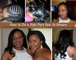 best way to sew in a weave for long hair how to do a sew in weave with a side part weave and leave out