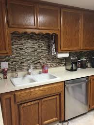 Using Vinyl Smart Tiles To Update My Kitchen Hometalk - Vinyl backsplash tiles