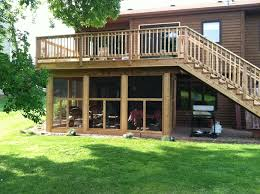 screened in porch and deck design and ideas