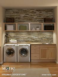 Country Laundry Room Decorating Ideas by Laundry Room Virginia Ledgestone Natual Stone Veneers Inc