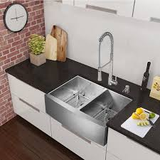 33 inch farmhouse kitchen sink vigo all in one 33 chisholm stainless steel farmhouse kitchen sink
